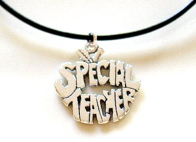 Sterling SPECIAL TEACHER 18 Inch Italian Black Leather Necklace