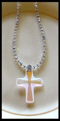 New Swarovski Crystal Cross Necklace 18 Inches