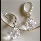 10mm Swarovski Round CLEAR Earrings Awesome Sparkle