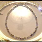 New SWAROVSKI ROUND 18 Inch CLEAR AB Crystal Necklace Sterling Silver