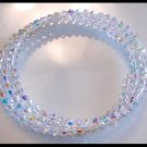 New SWAROVSKI CLEAR AB 3 Strand Crystal Wrap Bracelet Jewelry Gift