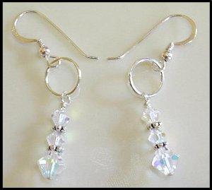 New SWAROVSKI CLEAR AB Crystal Drop Earrings