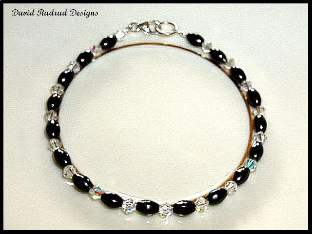 SALE!  Swarovski Crystal Hematite Magnetic Bead Bracelet