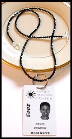 SWAROVSKI Round 30 Inch JET BLACK Crystal LANYARD Necklace Sterling Silver