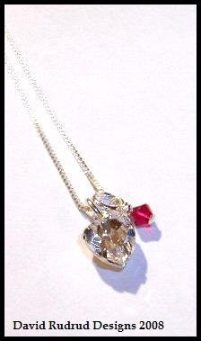 Worldwide Shipping - Original TWILIGHT BELLA'S CHARM NECKLACE Jewelry 16 in. Sterling & Swarovski