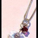 FREE Shipping - Original TWILIGHT BELLA'S CHARM NECKLACE Jewelry 16 in. Sterling & Swarovski