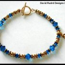 GOLD Swarovki Crystal Cancer Awareness Bracelet
