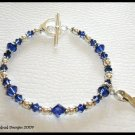 MESOTHELIOMA CANCER Awareness Bracelet Swarovski Crystal & Sterling MESO