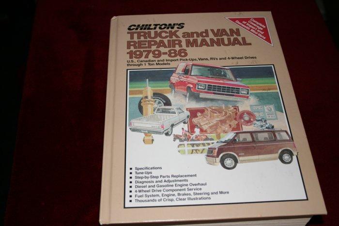 Chilton's Truck and Van Repair Manual 1979-86