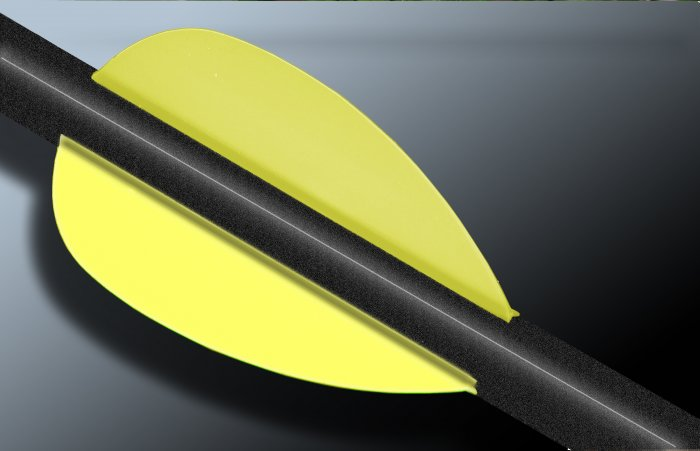 Flo Yellow Flash Vanes - hunting flex fletch archery vanes arrows fletching