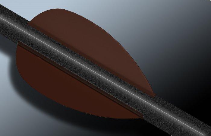 Brown Flash Vanes - hunting flex fletch archery vanes arrows fletching