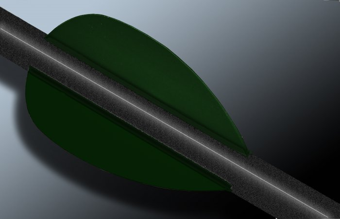 Dark Green Flash Vanes - hunting flex fletch archery vanes arrows fletching