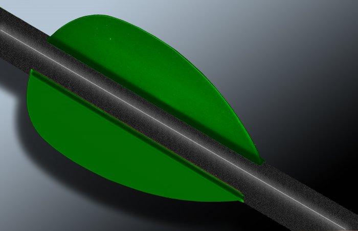 Flo Green Flash Vanes - hunting flex fletch archery vanes arrows fletching