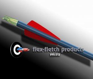 Red FFS-212 Flex-Fletch Premium vanes archery vanes target archery hunting flex fletch
