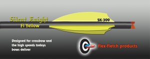Silent Knight Crossbow Vanes, SK-300, Fl Yellow, 36pk, Flex-Fletch, Crossbow, vanes, bolts, arrows