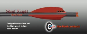 Silent Knight Crossbow Vanes, SK-300, Red, Flex-Fletch, Crossbow, vanes, bolts, arrows