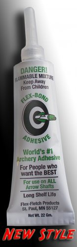 Flex-Bond Archery adhesive, archery, fletching, vanes, glue