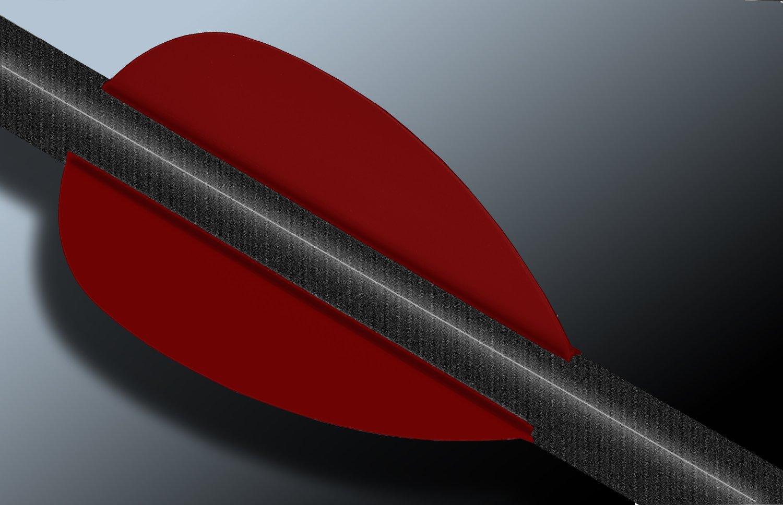 Flash Vanes, Red - 12 pack, hunting flex fletch archery vanes arrows