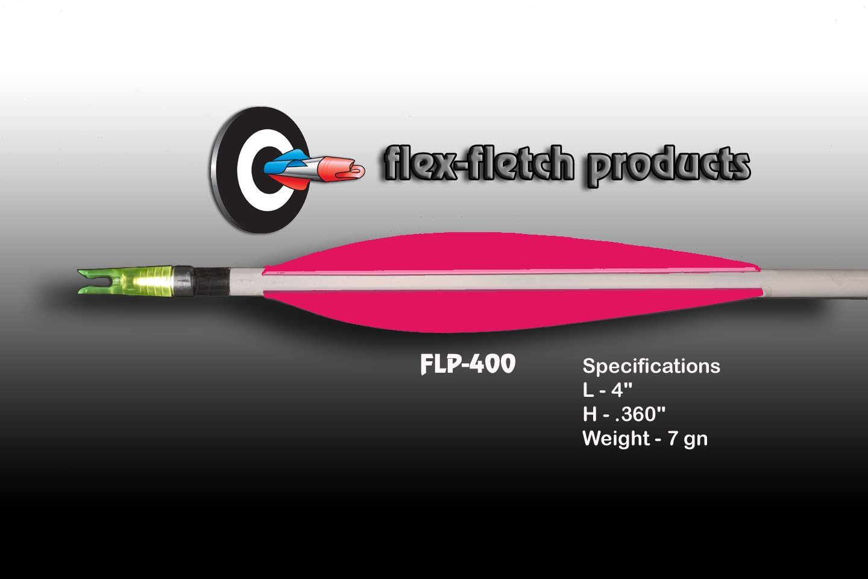 FLP-400 Hot Pink, Flex-Fletch, archery, vanes, hunting, arrows, target, fletching