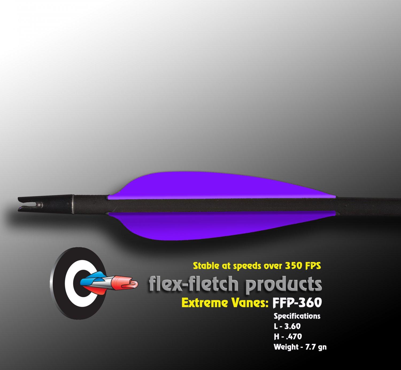 Extreme Vanes-Purple FFP 360X Flex-Fletch archery, vanes, hunting, arrows, target, fletching