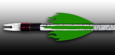 Flame Vanes - Florescent Green, FREE SHIPPING