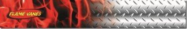 "Flame Vanes/Arrow Wrap #8 Red Steel 1 X 7"" Med"