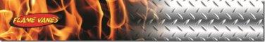 "Flame Vanes/Arrow Wrap #9 Orange Steel 1 X 7"" Med"