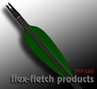 Hunter Green FFP-360 Flex-Fletch archery, vanes, hunting, arrows, target, fletching