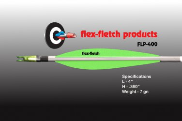FLP-400 Pearlesent Green, Flex-Fletch, archery, vanes, hunting, arrows, target, fletching