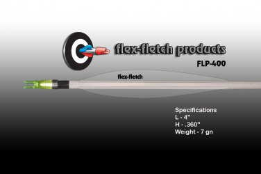 FLP-400 Clear, Flex-Fletch, archery, vanes, hunting, arrows, target, fletching