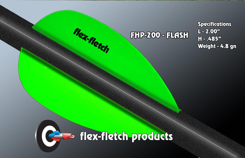 Neon Green Flash Vanes - hunting flex fletch archery vanes arrows fletching