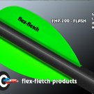 Neon Green Flash Vanes - hunting flex fletch archery vanes arrows fletching