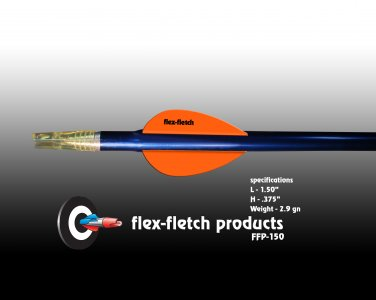 FFP-150 Winners Gold Flex-Fletch Premium vanes archery vanes target archery hunting flex fletch