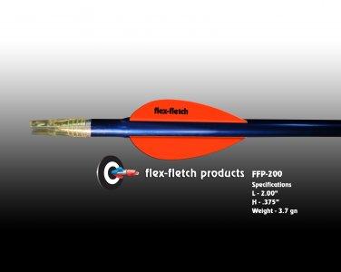FFP-200 Blaze Orange Flex-Fletch Premium vanes archery vanes target archery hunting flex fletch