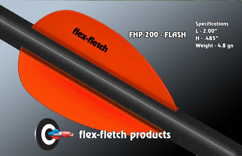 Fl Blaze Orange Flash Vanes - hunting flex fletch archery vanes arrows fletching