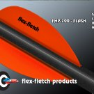 Fl Blaze Orange Flash Vanes - hunting flex fletch archery vanes arrows fletching