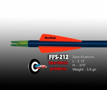 FFS-212 Blaze Orange Flex-Fletch Premium vanes archery vanes target archery hunting flex fletch