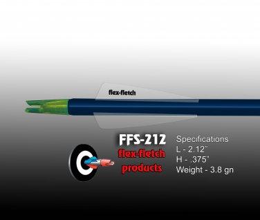 FFS-212 Phantom / Clear Flex-Fletch Premium vanes archery vanes target archery hunting flex fletch