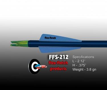 Pearl Blue FFS-212 Flex-Fletch Premium vanes archery vanes target archery hunting flex fletch