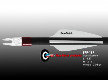 White FFP-187 Flex-Fletch Premium vanes archery vanes target archery hunting flex fletch