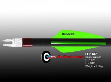 Neon Green FFP-187 Flex-Fletch Premium vanes archery vanes target archery hunting flex fletch