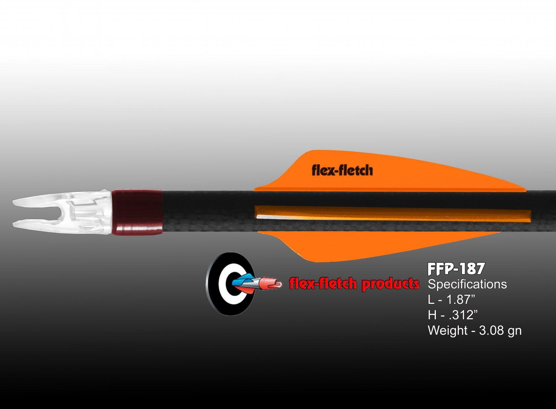 Light Orange FFP-187 Flex-Fletch Premium vanes archery vanes target archery hunting flex fletch