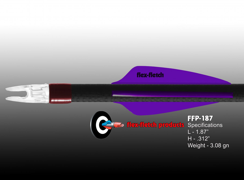 Purple Flex-Fletch FFP-187 Premium vanes archery vanes target archery hunting flex fletch