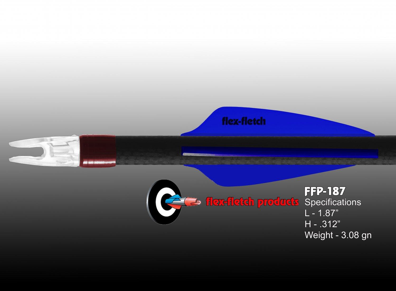 Flo Blue FFP-187 Flex-Fletch Premium vanes archery vanes target archery hunting flex fletch