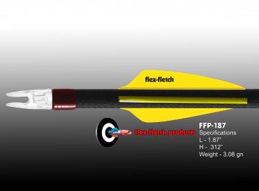 Flo Yellow FFP-187 Flex-Fletch Premium vanes archery vanes target archery hunting flex fletch