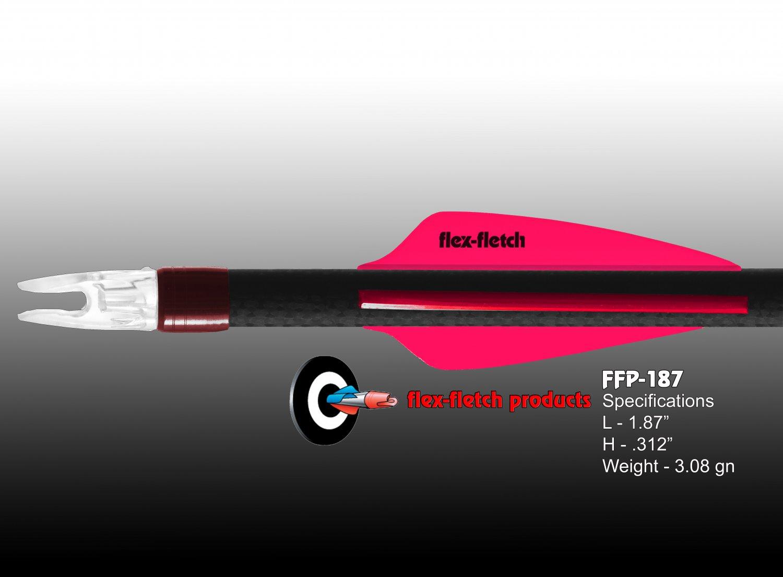 Hot Pink Flex-Fletch FFP-187 Premium vanes archery vanes target archery hunting flex fletch