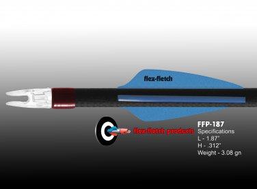 Pearl Blue FFP-187 Flex-Fletch Premium vanes archery vanes target archery hunting flex fletch