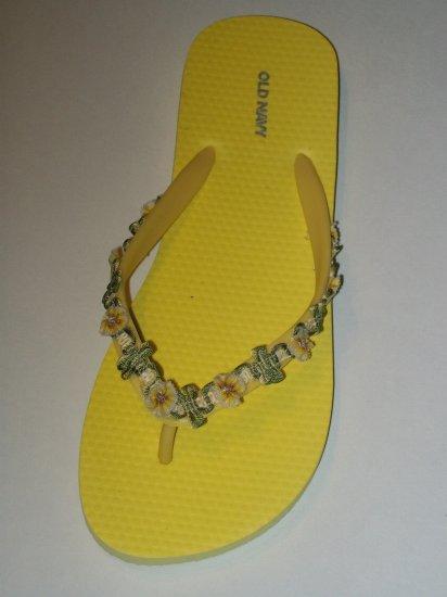 Women's Yellow Ribbon Wrapped Flip Flops