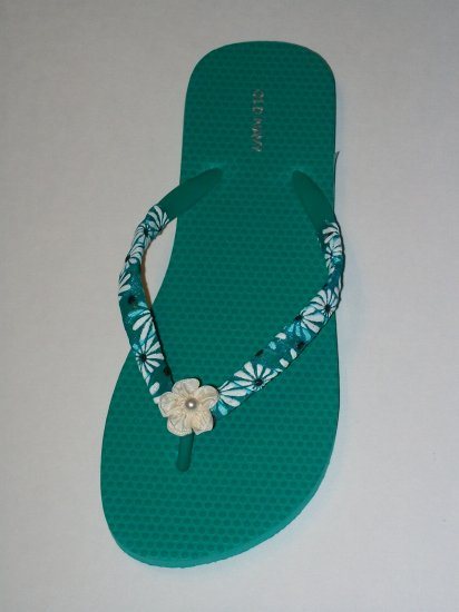 Women's Sea Foam Green Ribbon Wrapped Flip Flops