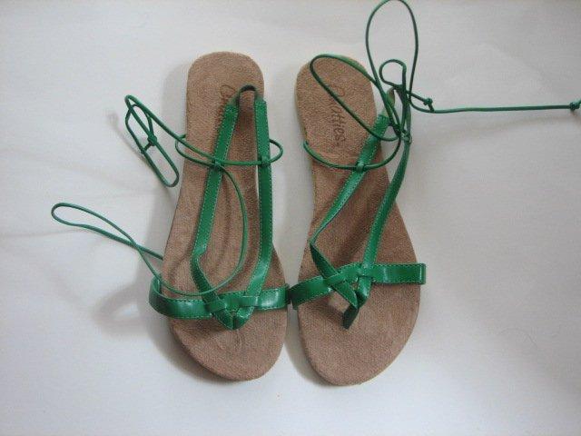Women's Green Wrap Up Sandals Size 7-8 (Medium)